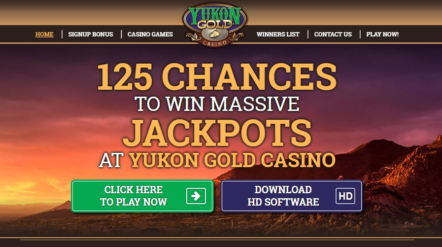 yukon gold casino homepage